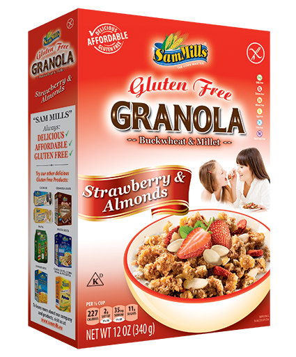 Granola SM Strawberry and Almonds 300 Sam Trade